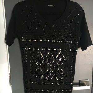 Hand embroidered Balmain t-shirt
